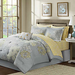 Madison Park Avalon 9-Piece Comforter Set in Grey
