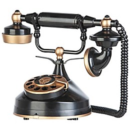 Gemmy Victorian Styled Telephone Décor in Black and Gold