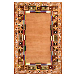 Momeni® New Wave Border Area Rug in Gold