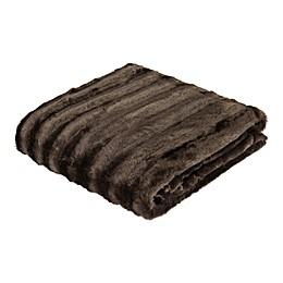 Madison Park Duke Brushed Long Faux Fur Throw Blanket