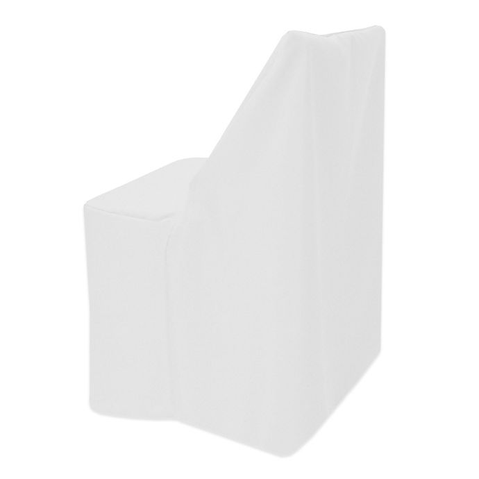 Alternate image 1 for Basic Polyester Cover for Wood Folding Chair in White