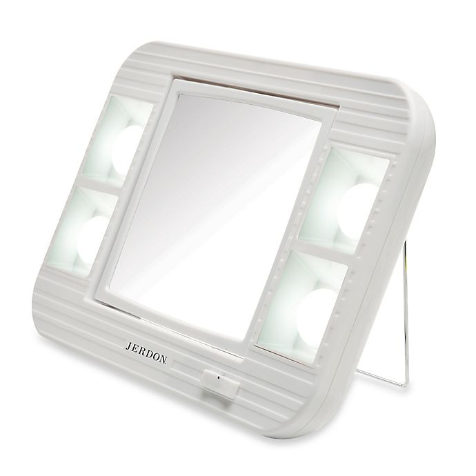 Jerdon 5x 1x Led Lighted Makeup Mirror In White