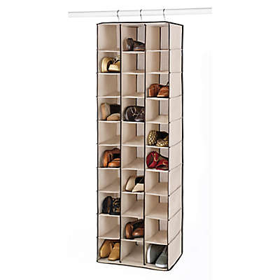 Whitmor 30 Section Hanging Shoe Shelves in Beige