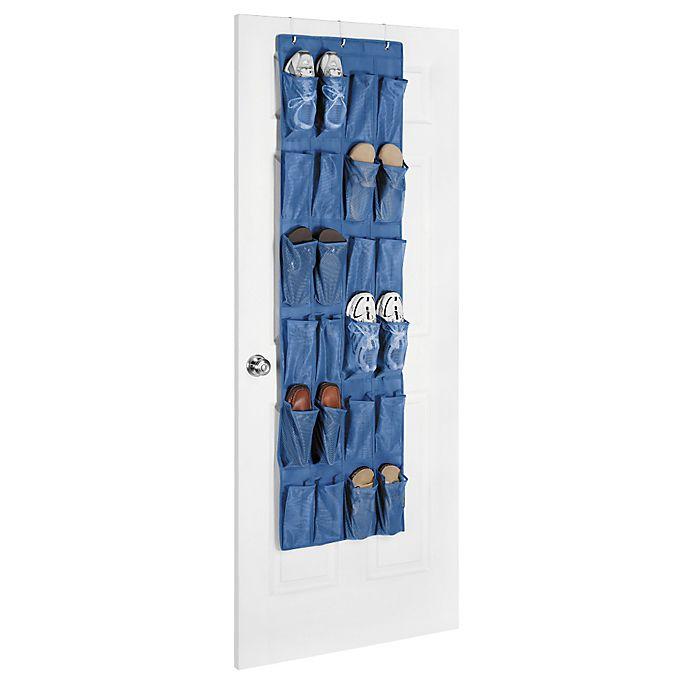 Alternate image 1 for Whitmor Over the Door Shoe Organizer in Primary Blue