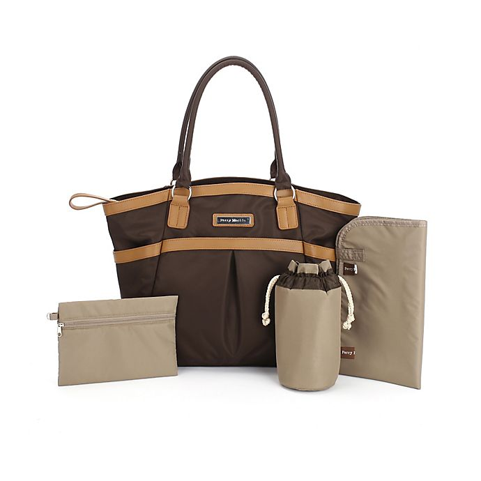 7e6e42c9039f Perry Mackin Harper Diaper Bag in Brown