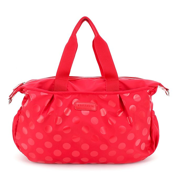 Alternate image 1 for stellakim Olivia Diaper Bag in Red