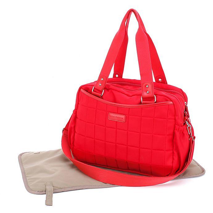 Alternate image 1 for stellakim Leslie Diaper Bag in Red