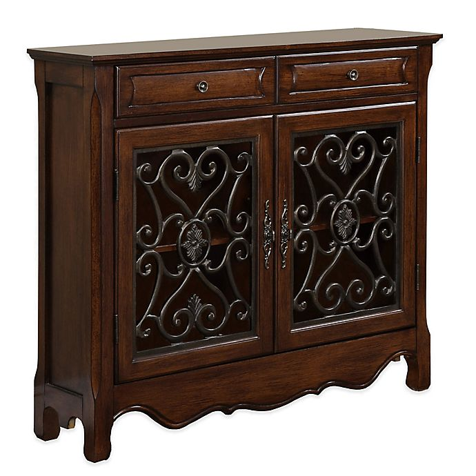 Jcpenney Foyer Furniture : Door drawer scroll console in light cherry bed bath