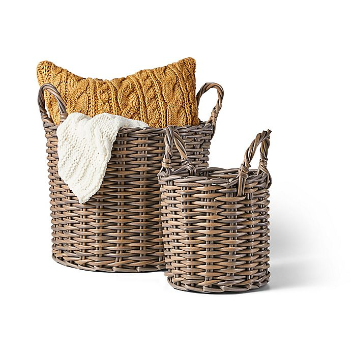 Alternate image 1 for Bee & Willow™ Home Round Basket in Grey