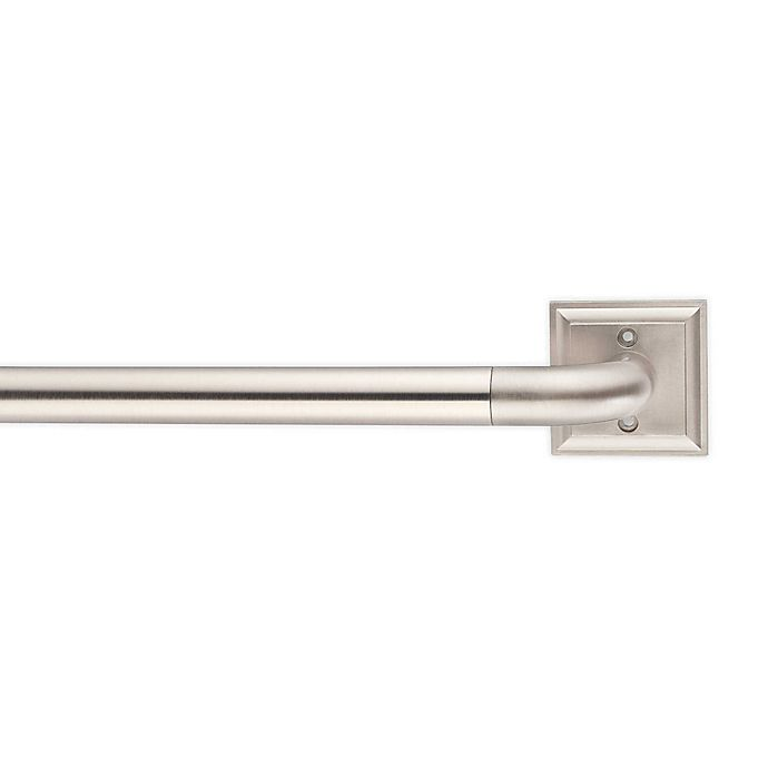 Alternate image 1 for Cambria® Blockout Adjustable Square Plate Curtain Rod in Brushed Nickel