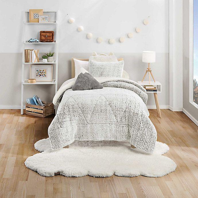 Alternate image 1 for UGG® Casey 3-Piece Full/Queen Comforter Set in Glacier Grey