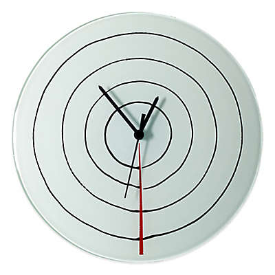 Veritas Handmade Circles Glass Wall Clock in White