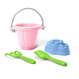 Green Toys 4-Piece Sand Play Set in Pink