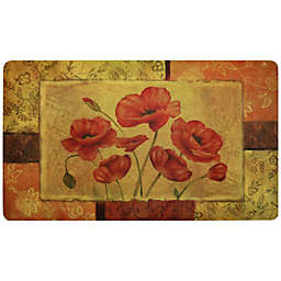 Home Dynamix Fashion Comfort 18-Inch x 30-Inch Jacobian Poppy Kitchen Foam Mat