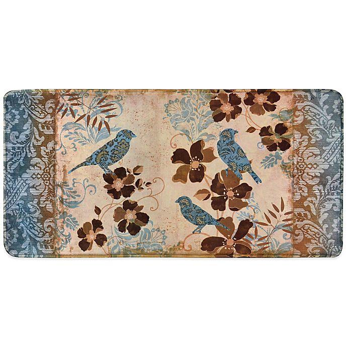 Blue Kitchen Floor Mats: Home Dynamix Relaxed Chef Blue Bird Kitchen Floor Mat