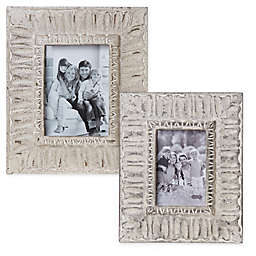 Mud Pie® Ornate Picture Frame in Ivory Washed
