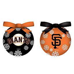 MLB San Francisco Giants LED Lighted Christmas Ornament Set (Set of 6)