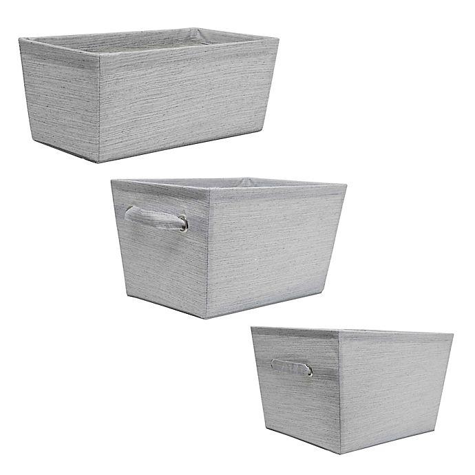 Alternate image 1 for SALT™ Serenity Storage Bin in Grey