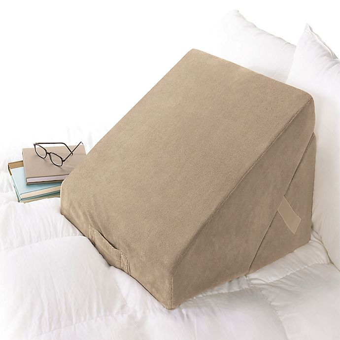 Alternate image 1 for Brookstone® 4-in-1 Bed Wedge Pillow in Taupe