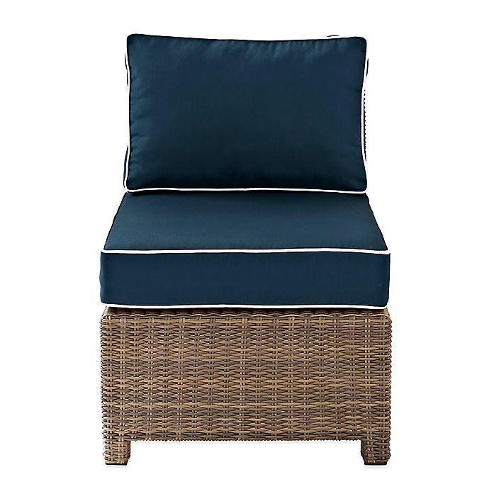 Alternate image 1 for Crosley Bradenton Wicker Armless Center Chair