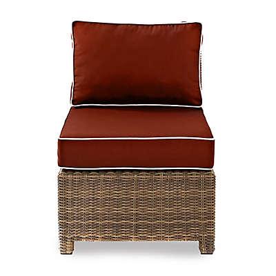 Crosley Bradenton Wicker Armless Center Chair