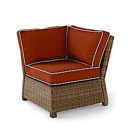 Crosley Bradenton Wicker Corner Chair in Sangria
