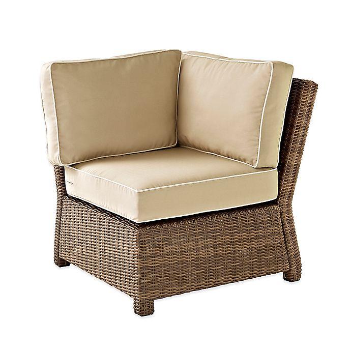 Alternate image 1 for Crosley Bradenton Wicker Corner Chair