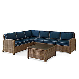 Crosley Bradenton 5-Piece Wicker Seating Set
