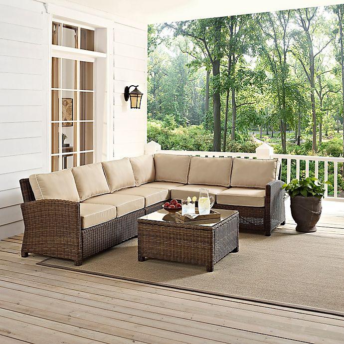 Patio Furniture Bradenton Fl: Crosley Bradenton 5-Piece Wicker Seating Set
