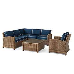 Crosley Bradenton 5-Piece Wicker Conversation Set