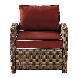 Crosley Bradenton Wicker Arm Chair