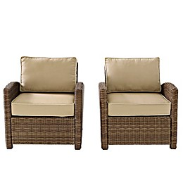 Crosley Bradenton Wicker Arm Chairs (Set of 2)