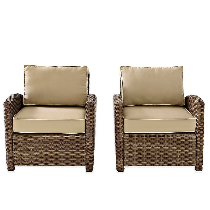 Alternate image 1 for Crosley Bradenton Wicker Arm Chairs (Set of 2)