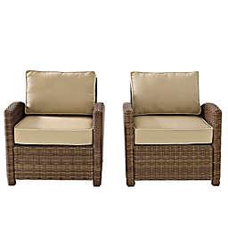 Crosley Bradenton Wicker Arm Chairs (Set of 2)