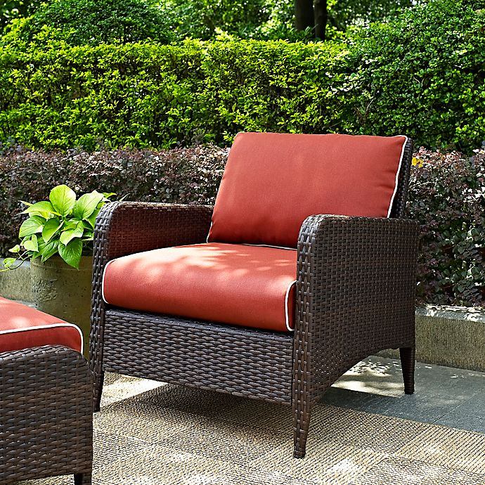 Alternate image 1 for Crosley Kiawah Wicker Arm Chair