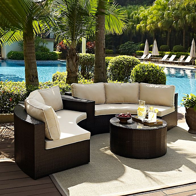 Alternate image 1 for Crosley Catalina 4-Piece Wicker Seating Set in Sand