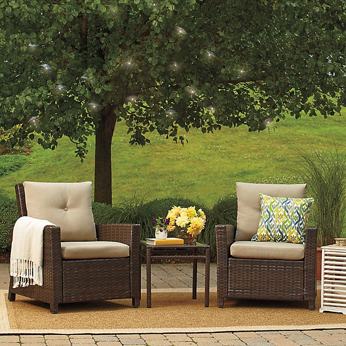 Alternate image 1 for Barrington 3-Piece Wicker Club Chair Set
