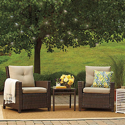 Barrington 3-Piece Wicker Club Chair Set