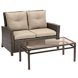 Barrington 2-Piece Wicker Loveseat Set