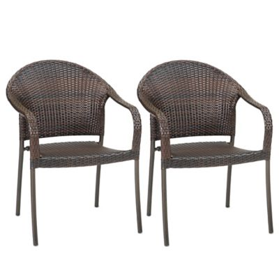 Barrington Wicker Stacking Chairs Set Of 2 Bed Bath