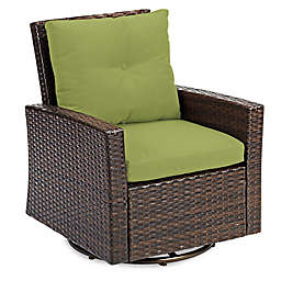Barrington Wicker Swivel Chair