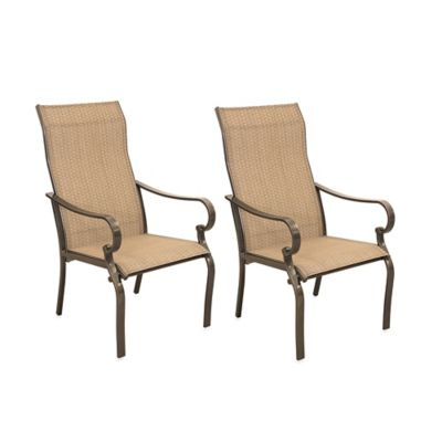 Hawthorne Oversized Sling Chairs Set Of 2 Bed Bath