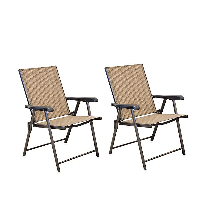 Hawthorne Folding Sling Chairs Set Of 2 Bed Bath And