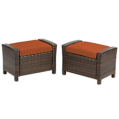 Barrington Wicker Ottoman (Set of 2)