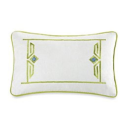 Echo™ Sardinia Embroidered Oblong Throw Pillow in White