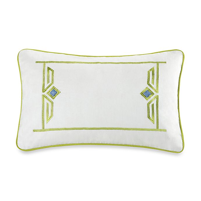 Alternate image 1 for Echo™ Sardinia Embroidered Oblong Throw Pillow in White