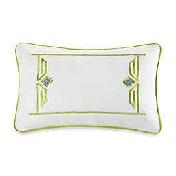 Echo™ Sardinia Embroidered Oblong Throw Pillow in White