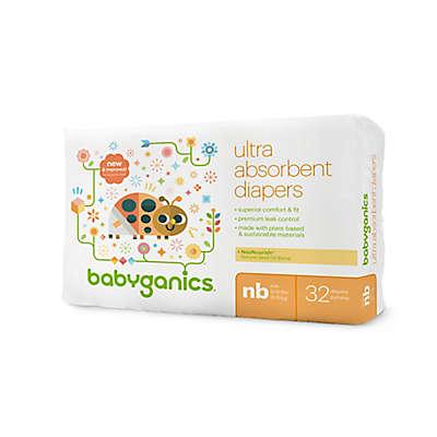 Babyganics® 32-Count Newborn Jumbo Ultra Absorbent Diapers