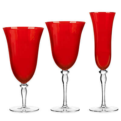 Qualia Rouge Red Glasses (Set of 4)