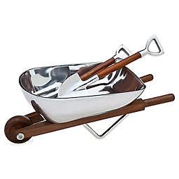 Godinger Wheelbarrow Salad Bowl & Servers